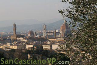 View of Florence skyline from Viale Michelangelo, taken in May 2010